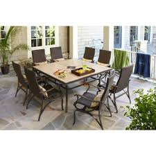 Patio Furniture At Home Depot - hampton bay pembrey 9 piece patio dining set patio dining