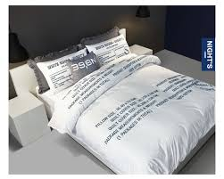 Duvet Cover Sizes Aliexpress Com Buy Brand Word Print Bedding Set King Queen Size