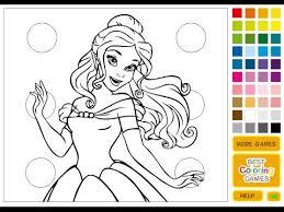 coloring games kids disney princess coloring games