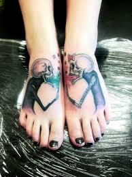 skulls couple tattoo tatuajesxd