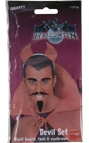 Halloween Costume Goatee Devil Hair Costume Accessory Devil Beard Eyebrows