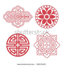 traditional design set vector korean traditional design elements stock photo photo