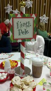 polar express table centerpieces party polar express party