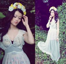 jasmine zhu vintage night gown diy floral crown silent all