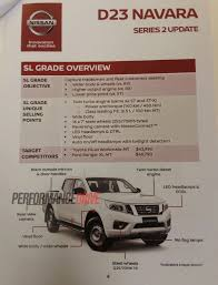 nissan navara series ii adds sl variant revised suspension