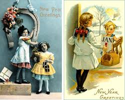 new year s cards collection of beautiful vintage new years cards what will matter