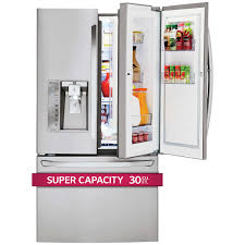 French Door Fridge Size - lg 30cuft super capacity 3 door french door stainless steel