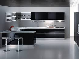 Modern Kitchen Cabinets Furniture Black Modern Kitchen Cabinets With White Countertop