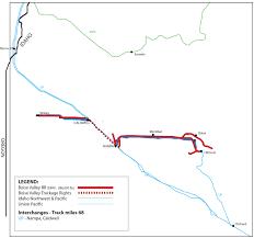 Union Pacific Railroad Map Boise Valley Railroad Bvrr Watco Companies