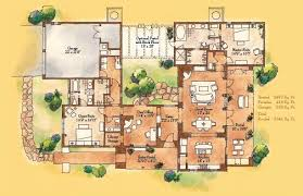 pueblo style house plans pueblo style floor plans 2 master suite one great room jicarita