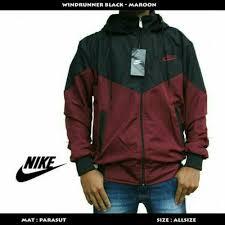 Jual Jaket Nike Parasut jual jaket nike parasut hitam combi maroon sweater pria wanita