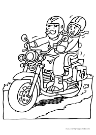 motorcycle color pages coloring pages kids transportation
