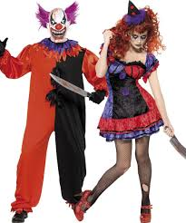 couples halloween clown costumes fancy dress delivered