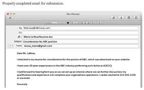 How To Send Resume For Job In Email by How To Send A Professional Email With Resume 11143