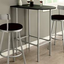 silver metal bar table monarch specialties i 23 spacesaver bar table ideas for the house