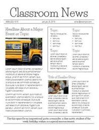3 free newsletter templates editable class news pinterest