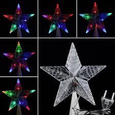multi colored led christmas lights large led christmas tree topper star lights l multi color