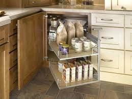 Corner Cabinet Storage Solutions Kitchen Blind Kitchen Cabinet Wire Pull Out Solution With Stainless