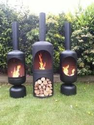 Ebay Firepit Chiminea Pit Wood Log Burner Chiminea Cing