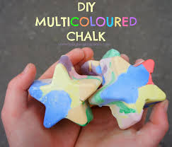 diy homemade multicoloured chalk laughing kids learn