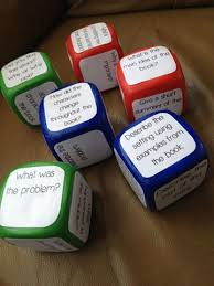 printable question dice a love for teaching question cubes and prompt sticks