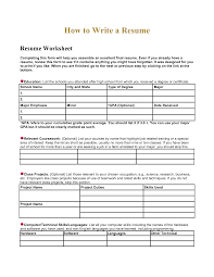 Resume Other Activities High Resume Worksheet Using Your Academic Experiences To