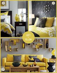 living room yellow accents gray grey and living room walls decor