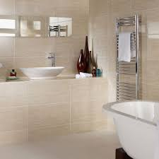 beige tile bathroom ideas bright space a white and beige bathroom with sink shower stock photo