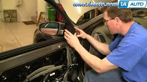 how to install replace side rear view mirror nissan maxima 04 08