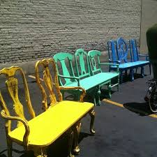 Painted Chairs Images Best 25 Painting Old Chairs Ideas On Pinterest Chair Bench