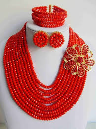 red crystal beads necklace images 221 best nigeria wedding african beads jewelry set crystal bridal jpg