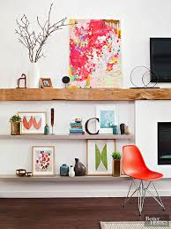 Staggered Bookshelves by Ideas For Floating Shelves