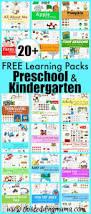 20 free printable preschool and kindergarten learning pack