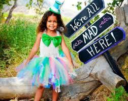 Alice Wonderland Halloween Costumes Kids Mad Hatter Costume Etsy