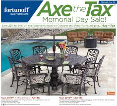 3 z4yfea axe the tax memorial day sale fortunoff patio rare images