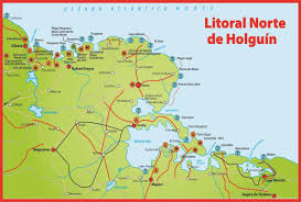 Map Cuba Holguin Guardalavaca Playa Pesquero