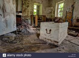 old forgotten and abandoned home interior in a derelict decaying