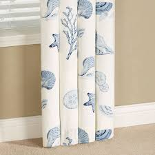Coastal Shower Curtain by Treasures By Sea Blue Coastal Window Treatment