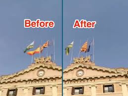The Flag In Spanish Video Catalan City Sabadell Removes Spanish Flag To Mark