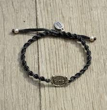 black bracelet with charm images 72 names of god charm hand woven black bracelet for good health jpg