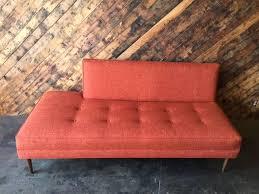 mid century style custom day bed tweed sofa u2013 the hunt vintage