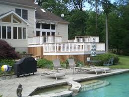 mulit level ipe deck with cedar lattice deck specialists inc jpg
