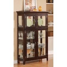China Cabinets With Glass Doors Funiture Laminate Floor Brown Wooden Framed