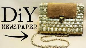 newspaper bag diy youtube