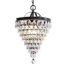 Lowes Chandelier Shades Shop Style Selections 3 Light Antique Bronze Crystal Chandelier At