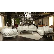 Leather Livingroom Sets 21 927 00 Mia Bella Ellia Leather Sofa Set By Michael Amini 3 Pc