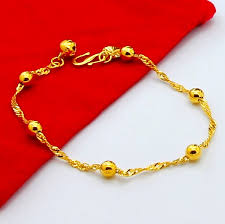 yellow gold bracelet with pearls images New arrivals fashion design yellow gold bracelet top quality 24k jpg