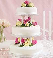 wedding cake asda traditional 3 tier wedding sponge cake ivory or white from
