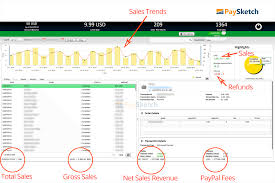 monthly sales report template excel how to generate your paypal monthly statement paysketch paypal financial summary in paysketch