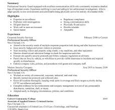 Resume Templates For Law Enforcement Security Guard Resume Example Security Guard Resume Template 4